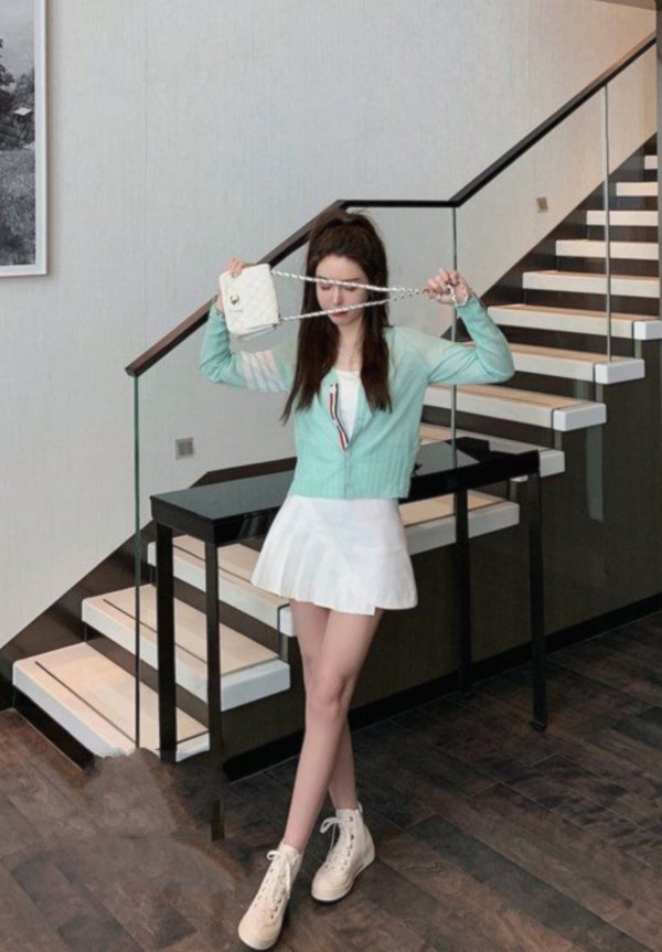 Mint With Four Stripes Cardigan | Jimin – BTS