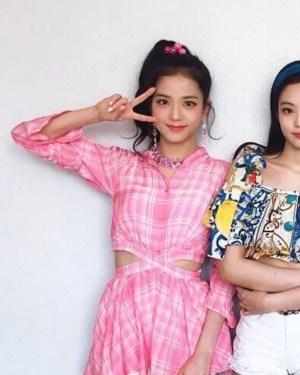 Pink Plaid Wrapped Around Blouse | Jisoo – Blackpink