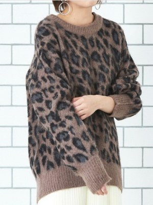 Jo Yi So Animal Print Crew Neck Sweater 00001