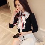 Jabot Collar Chiffon Blouse | Joy – Red Velvet