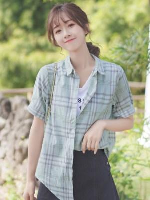 Loose Soft Plaid Buttoned Shirt