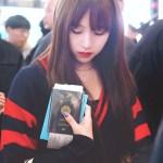 Double Red Band Blue Cardigan | Mina – Twice