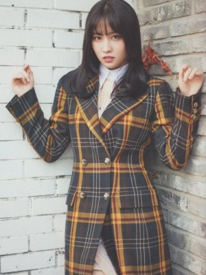 Check Plaid Suit Jacket | Momo -Twice