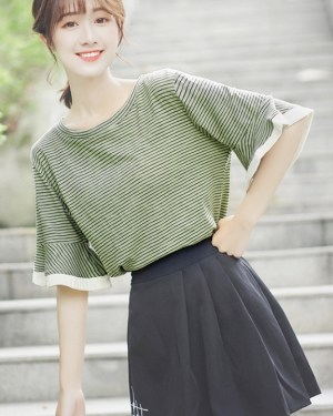 Ruffled Half-Sleeved T-Shirt