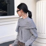 Grey Two Piece Illusion Sweater | IU