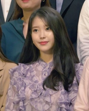 Nehru Purple Ruffled Blouse | IU
