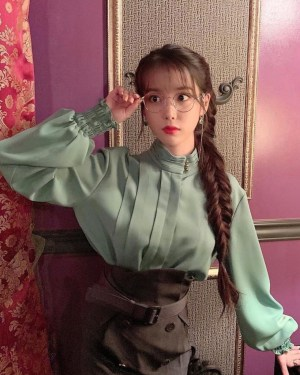 Belt Buckled Canvas Pencil Cut Skirt | IU – Hotel Del Luna