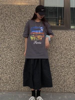 Jennie Starry Night Sky Grey T-Shirt (6)