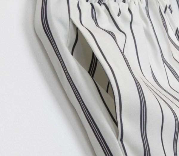 Vertical Striped Wide Leg Pants | Jennie – BlackPink