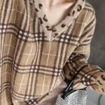 V-Neck Leopard Print Detailed Sweater | Jisoo – Blackpink