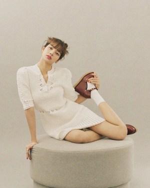 Ivory Round Neck Crochet Dress | Lisa – Blackpink