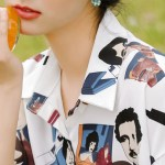 Colored Portraits Print Shirt