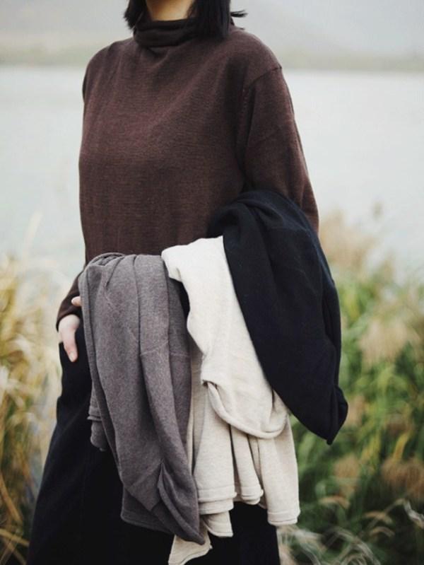 Brown Long Sleeve Turtle Neck Shirt   Kai – EXO