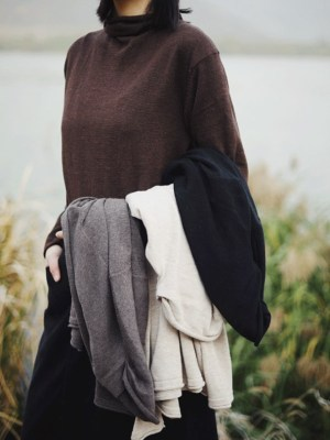 EXO Kai – Brown Long Sleeve Turtle Neck Shirt (2)