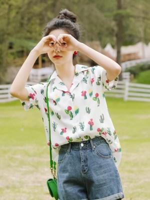 Green Cacti Print Shirt (4)