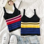 Contrast Striped Sleeveless Camisole  | Hwasa – Mamamoo