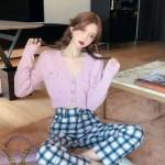 Cropped Pink V-Neck Cardigan – Jennie – Blackpink