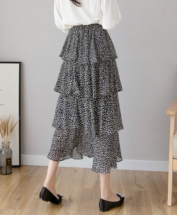Black Long Layered Chiffon Skirt | Jisoo – Blackpink