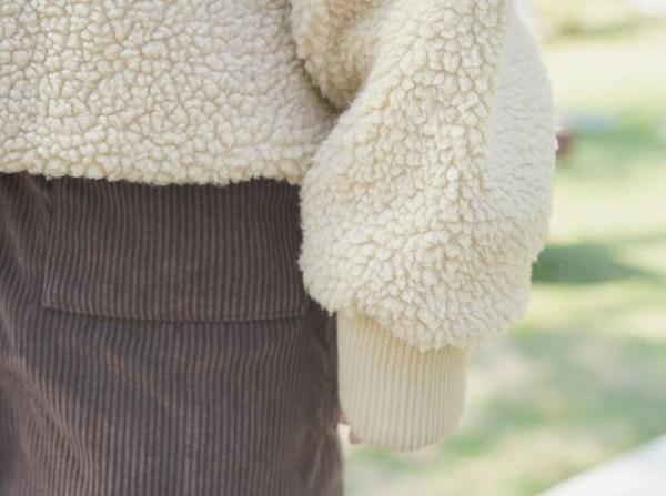 Lamb Wool Apricot Hoodie