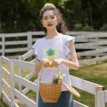Pineapple Print Ruffled Sleeves T-Shirt