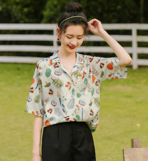 Plants And Leaves Print Shirt