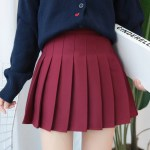 Red Pleated Mini Skirt | Joy – Red Velvet