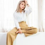 Brown Wide Leg Pants | Solar  – Mamamoo