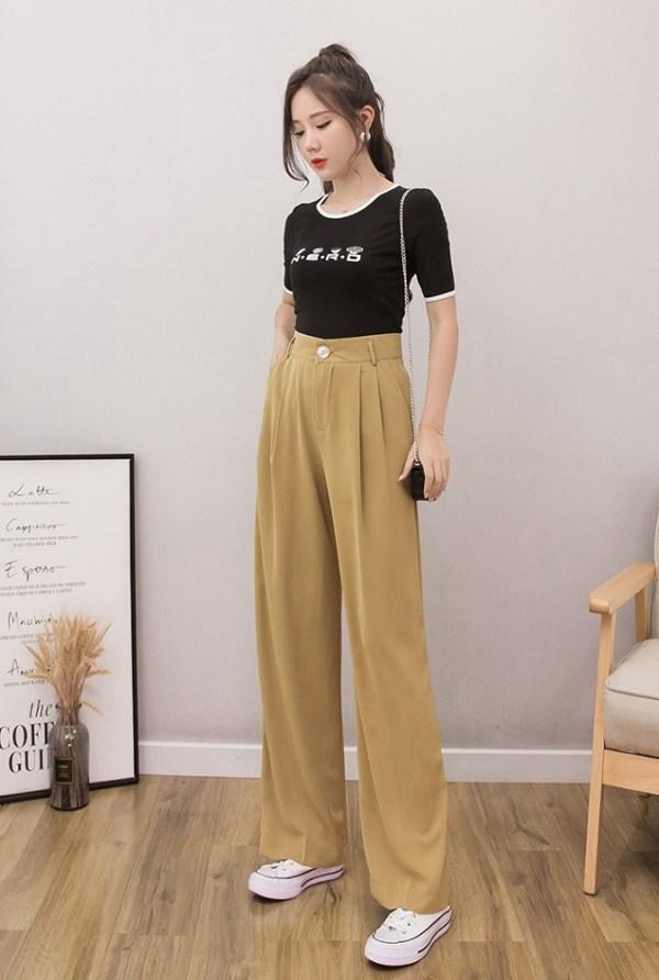 Brown Wide Leg Pants | Solar – Mamamoo