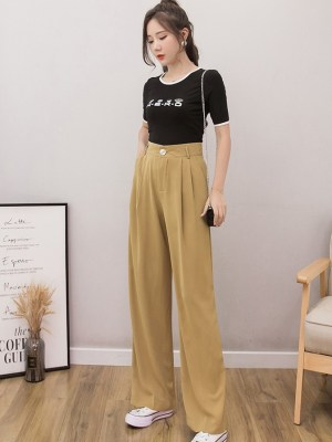 Solar – Mamamoo Brown Wide Leg Pants (9)
