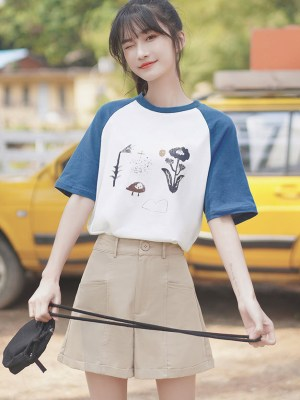 Thanks White Lace Bell Sleeve T-Shirt (13)