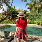 Plaid Pleated School Girl Skirt | Nayeon – Twice