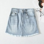 Distressed Denim Skirt | Chaeyoung- Twice
