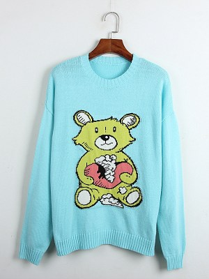 Chanyeol – EXO Teddy Bear Knitted Pullover (15)