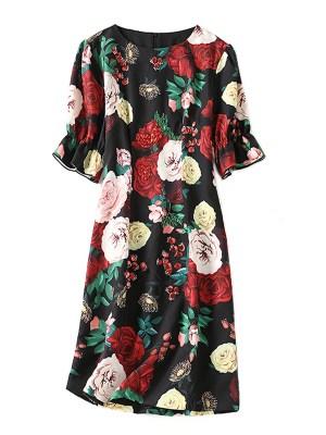 Chung Ha – Rose Print Dress (11)