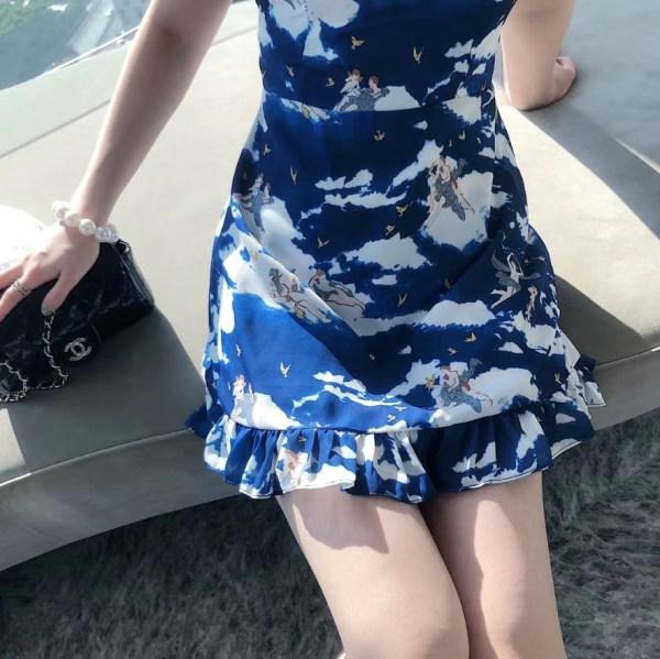 Little Angels In Blue Sky Sleeveless Dress | Chungha