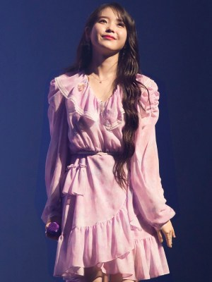 Floral Chiffon Dress | IU