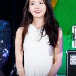White Crossed Neck Dress   IU
