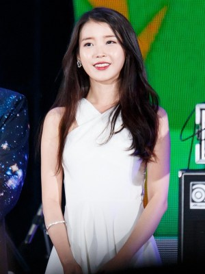 White Crossed Neck Dress | IU