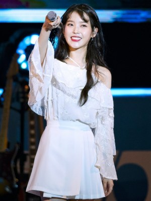 White Pleated Skirt | IU