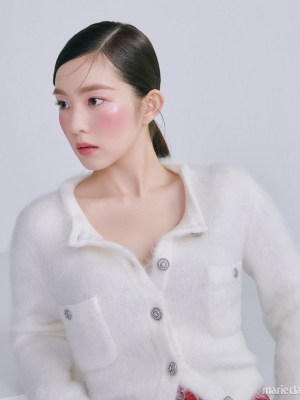 White Wool Cardigan | Irene- Red Velvet