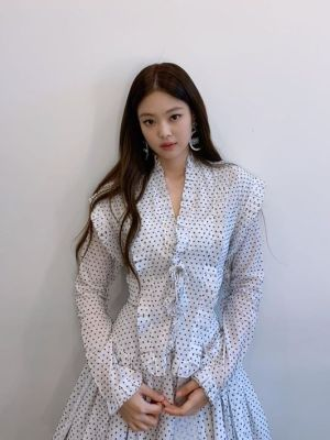White Polka Dot Dress  | Jennie – BlackPink