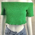 Green Off-Shoulder Cropped Top | Jennie – Blackpink