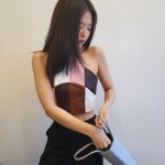 Multicolored Short Halter Sling Top | Jennie – Blackpink
