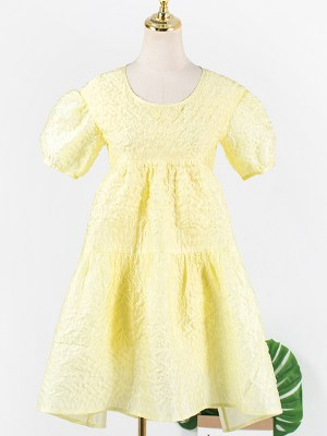 Joy – Red Velvet Yellow Baby Doll Dress (11)
