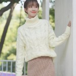 Knot Knitted Turtleneck Sweater