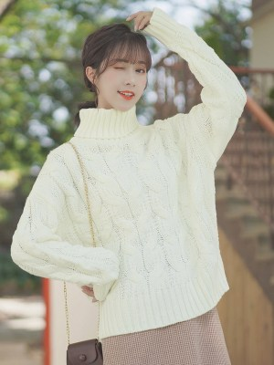 Knot Knitted Turtleneck Sweater (5)