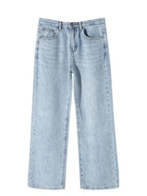 Lisa Light Blue High Waist Wide Leg Denim Pants (1)