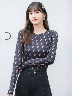 Lisa Tight Moon Print Shirt (2)