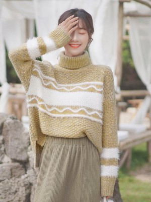 Orange Gold Knitted Sweater