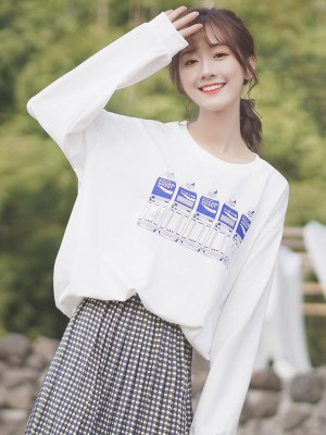 Pocari Bottles White Sweater